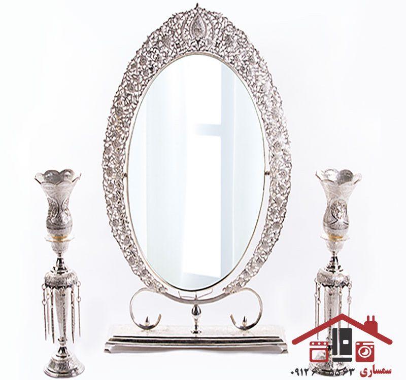 خریدار آینه شمعدان برنزی